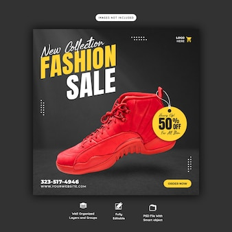 New collection fashion sale instagram post template