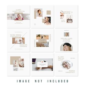 새로운 컬렉션 패션 판매 instagram 퍼즐 피드 premium psd
