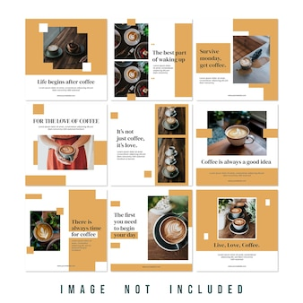 새로운 컬렉션 패션 세일 인스타그램 퍼즐 피드