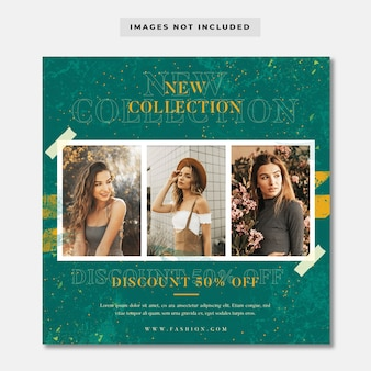 New collection fashion sale social media instagram template