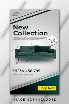 New collection furniture instagram story template