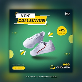 New collection shoes social media banner template
