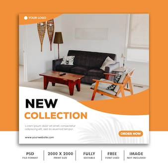 New collection social media post template
