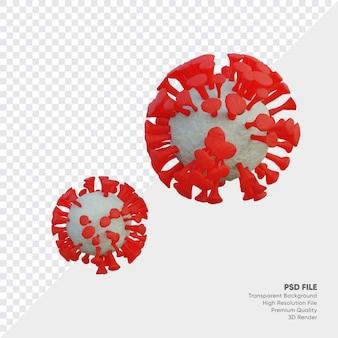 새로운 코로나 바이러스 델타 3d 그림