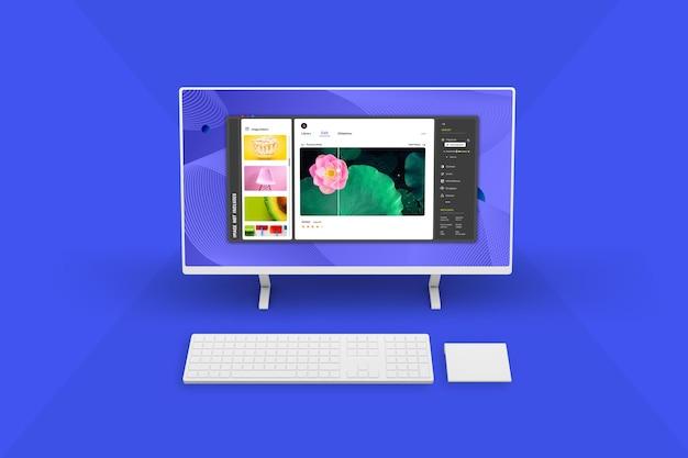 Новый дизайн макета экрана настольного компьютера