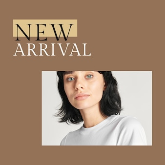 New fashion collection template psd for social media post