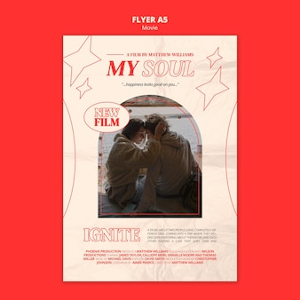 New film flyer template