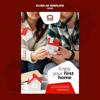 New home flyer template