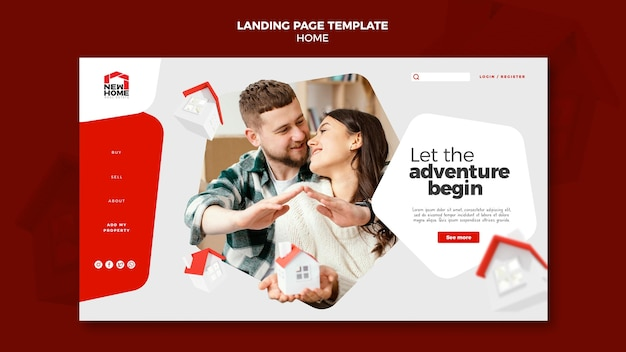 New home landing page