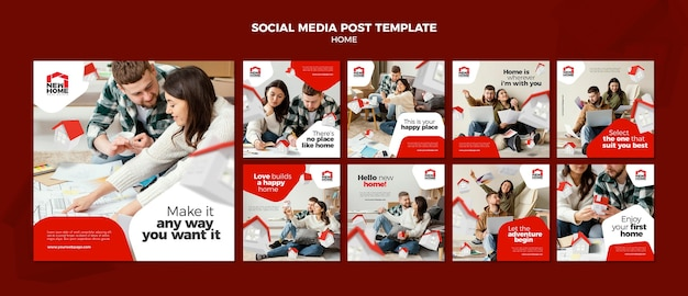 New home social media post