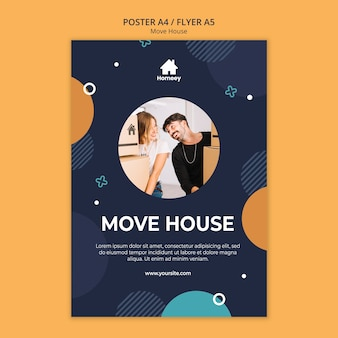 New house new start flyer template