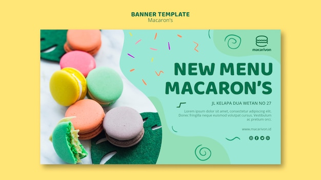 New menu macaron's banner template