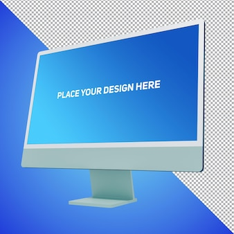 New mockup isolated layer