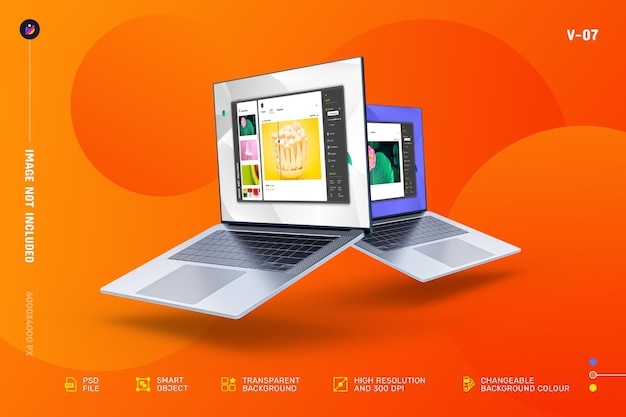New modern laptop screen mockup