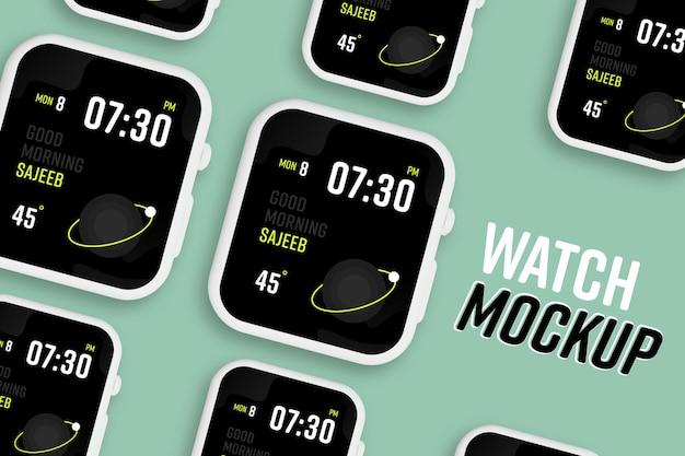 新しいモダンなスマートウォッチ画面のモックアップ
