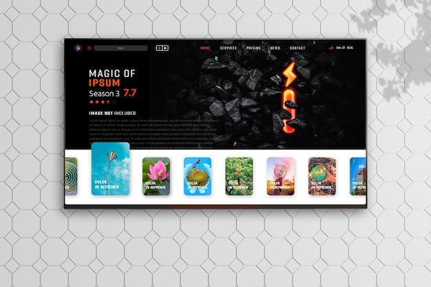 New modern television display mockup