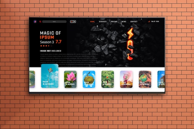 Новый современный макет телевизионного экрана