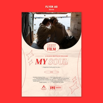 New movie a5 flyer template