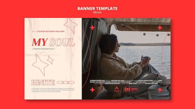 New movie banner template