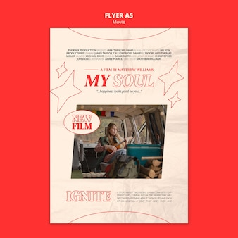 New movie flyer template