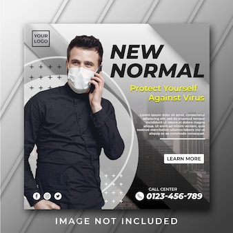 New normal banner template