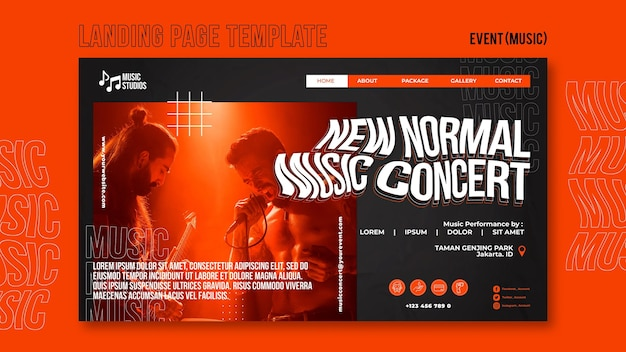 New normal music concert landing page