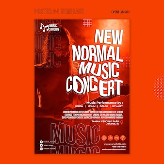 New normal music concert print template