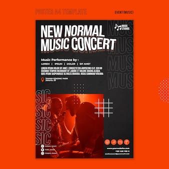 Nuovo modello di stampa per concerti di musica normale