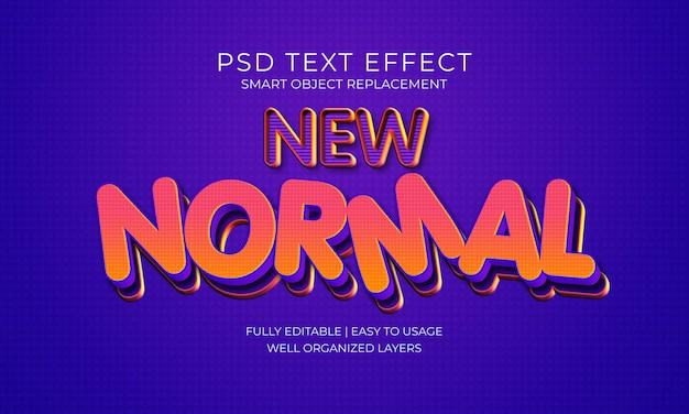 Новый нормальный текстовый эффект
