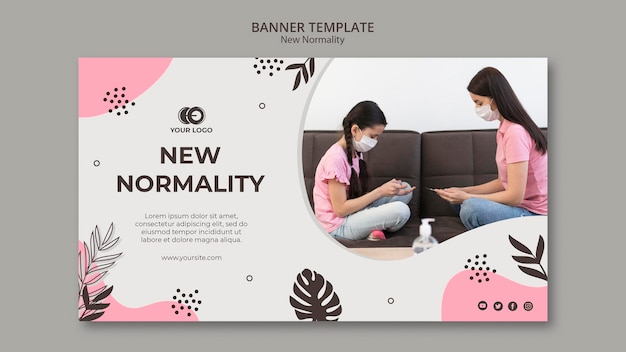 New normality banner template style