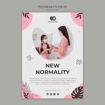 New normality flyer template