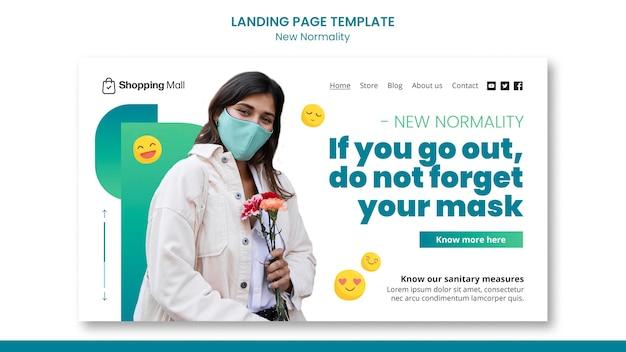새로운 정규성 방문 페이지 디자인 템플릿 프리미엄 PSD 파일