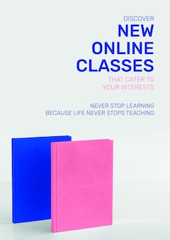 New online classes template psd future technology