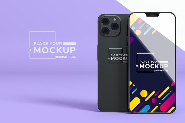 Nuova collezione di telefoni mock-up