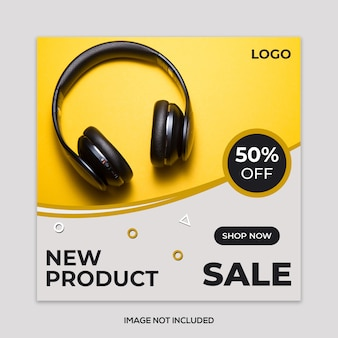 New product sale banner