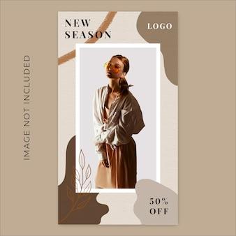 New season fashion collection liquid instagram stories banner template