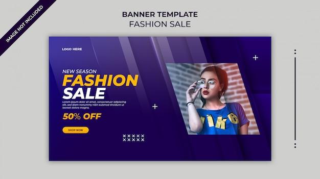 New season fashion sale web banner or instagram  banner template