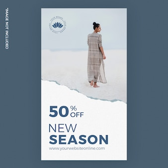 New season torn paper fashion instagram story ads