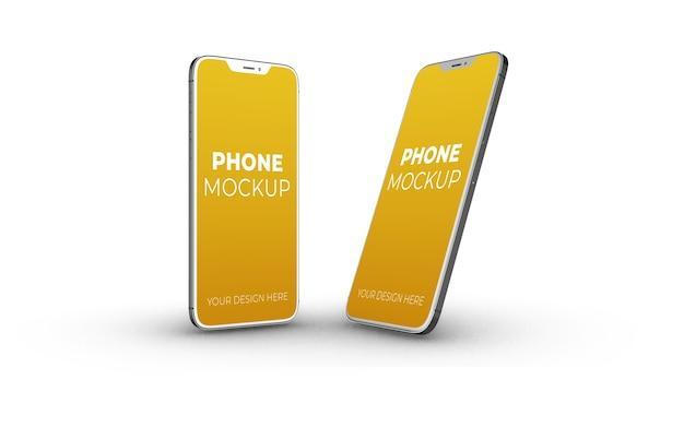 新しいスマートフォンのモックアップフローティング分離
