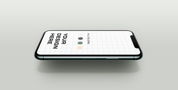 New smartphone mockup floating