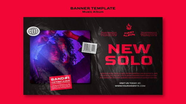 New solo banner template Free Psd
