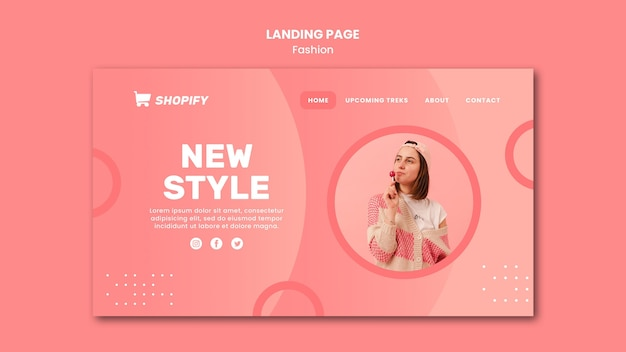 New style landing page template