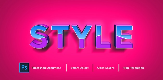 New style text effect design photoshop layer style