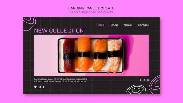 New sushi collection landing page template