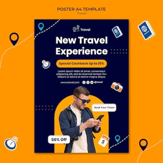 New travel experience poster template