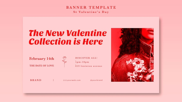 The new valentine collection is here banner
