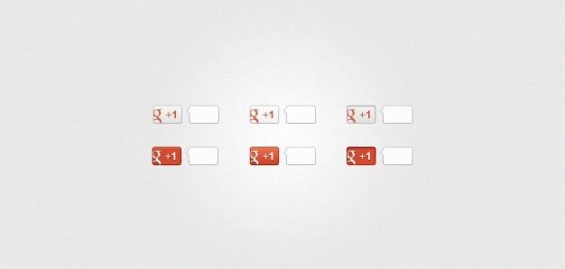 New  version   google + buttons  psd