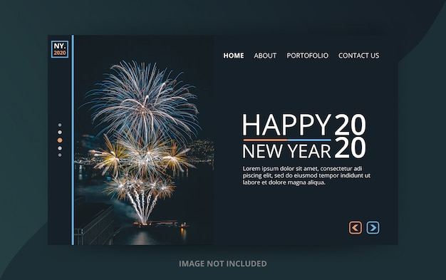 New year 2020 landing page