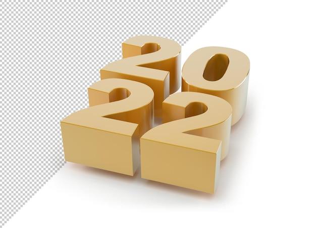 Новый год 2022 золото, макет