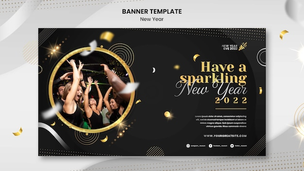 Новогодний баннер шаблон дизайна